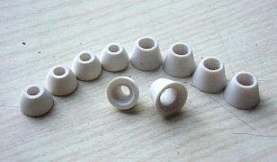 Beads of ceramic insulating - production