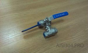Кран нержавеющий муфтовый Ду 15 (1/2) AISI 304