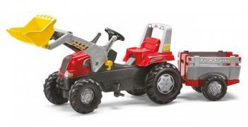 Педальный трактор с прицепом и ковшом Junior RT Rolly Toys 81139