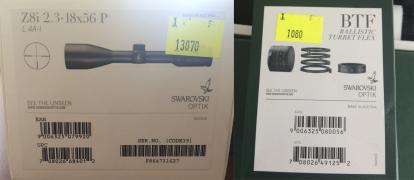 Продам Swarovski Z8i 2,3-18x56 L сетка 4A-I + одна BT турель + м