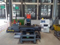 Punching machine with drilling option for punching holes and