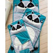Sleeping blanket-envelope Raccoon for children (any sizes)