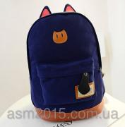 Urban backpack Cat ears dark blue