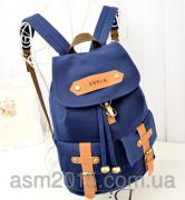 Urban backpack hipster blue